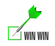 Win win check dart illustration design Royalty Free Stock Images