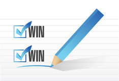 Win win check list illustration design Royalty Free Stock Images