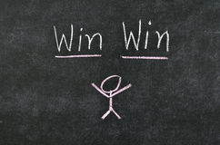 Win win concept. On blackboard Royalty Free Stock Photography