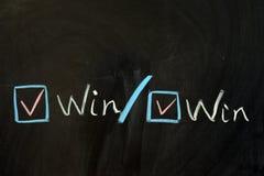Win win concept. Chalk drawing - Win win concept Stock Photo