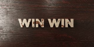 Win win - grungy wooden headline on Maple  - 3D rendered royalty free stock image Royalty Free Stock Photo