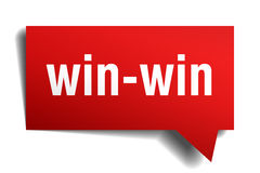 Win-win red paper speech bubble Royalty Free Stock Photos
