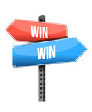 Win win road sign illustration design Royalty Free Stock Image