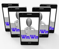 Win Win Sign Means Positive Outcome For Both Parties Stock Images
