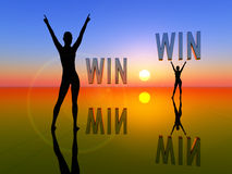 Win Win Situation for two women Royalty Free Stock Image