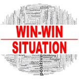 Win-win situation word cloud. Creative illustration of idea word lettering typography . 3D rendering Stock Photography