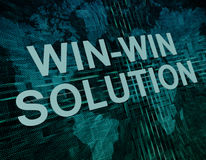 Win-Win Solution Royalty Free Stock Image
