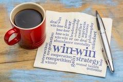 Win-win strategie stock afbeeldingen