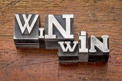 Win-win strategie in metaaltype Royalty-vrije Stock Foto