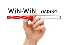Win-Win Strategy Loading Bar Concept royalty free stock photo
