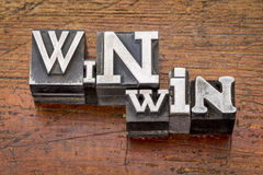 Win-win strategy in metal type Royalty Free Stock Photo