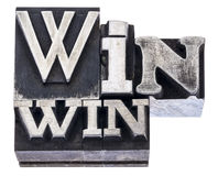 Win-win strategy in metal type Royalty Free Stock Photography