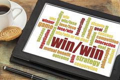 Win-win strategy word cloud Stock Photo