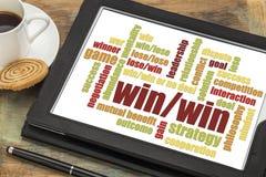 Win-win wolk van het strategiewoord stock foto