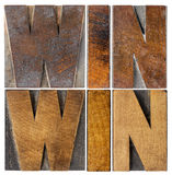 Win-win in wood type Royalty Free Stock Images