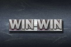 Win-win word den Royalty Free Stock Photography