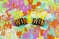 Win winning competition teamwork people royalty free illustration
