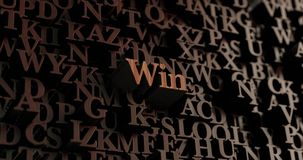 Win - Wooden 3D rendered letters/message Stock Photo