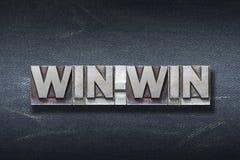 Win-win woordhol royalty-vrije stock fotografie