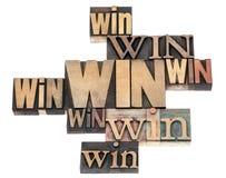 Win woordsamenvatting stock foto's