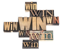 Win word abstract Stock Photos