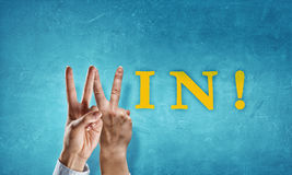 WIN word Stock Photography