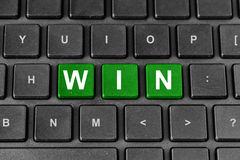 Win word on keyboard Royalty Free Stock Photography