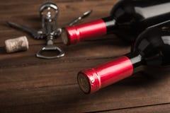Wina i metalu corkscrew Obrazy Stock