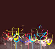 Wina karciany tła alkoholu napój glass1 Zdjęcie Stock