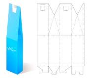 Wina Papierowy pudełko z projekta szablonem Zdjęcie Stock