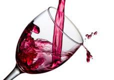 Wina pluśnięcie z kroplami obrazy stock