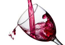 Wina pluśnięcie z kroplami obraz stock
