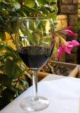 Wina szkła kwiat Fotografia Stock