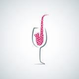 Wina szkła pojęcia jazzowy tło Zdjęcia Stock