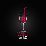 Wina szkła projekta pojęcia jazzowy tło Fotografia Stock