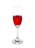 Wina szkło odizolowywający na białym tle Obrazy Royalty Free