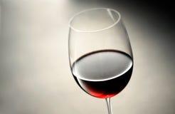 Wina szkło z czerwonym winem Fotografia Royalty Free