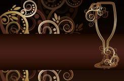 Wina szkło z zawijasami Zdjęcia Royalty Free