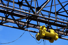 Winch. On gantry over blue sky Royalty Free Stock Photo