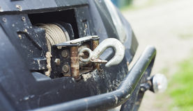 Winch for atv quad bike. Closeup shot Stock Images