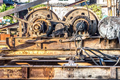 The winch engine of pile driver Royalty Free Stock Photography