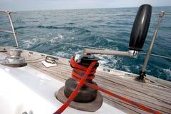 winch för fartygrepsegling Royaltyfri Bild