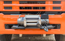 Winch on front of rescue truck Stock Image