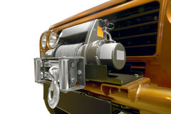 Winch with metal cable wire for offroad equipment Stock Photos