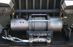 Winch motor car Royalty Free Stock Image