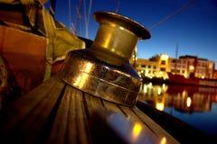 Winch na żagiel łodzi Obrazy Stock