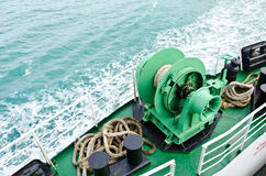 Winch on passenger ships. Stock Photos