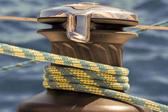 Winch with a rope Royalty Free Stock Images