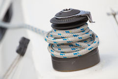 Winch and  rope Stock Images