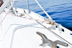 Winch in sailboat Royalty Free Stock Photo